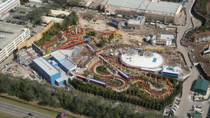 Toy Story Land Construction Update February overview