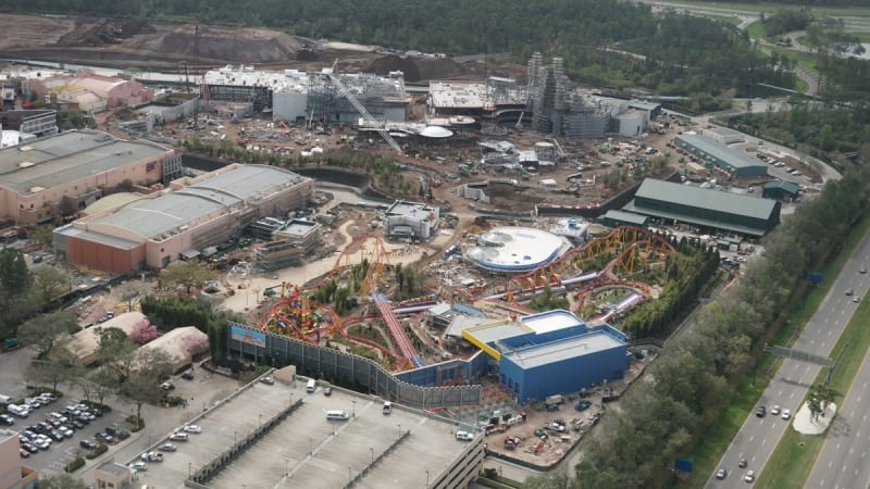 Toy Story Land and Star Wars Galaxy's Edge construction
