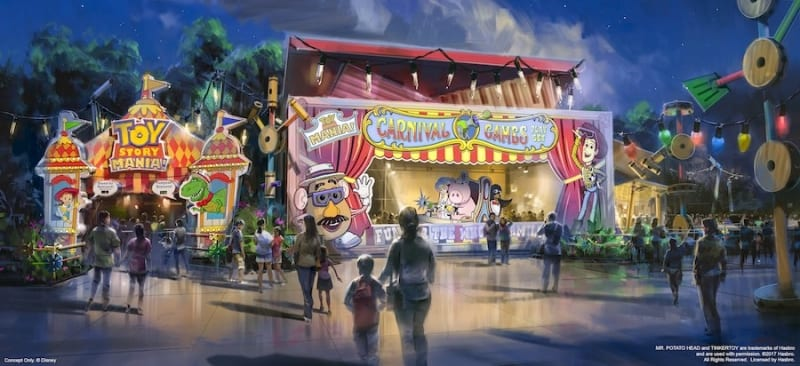 New Toy Story Midway Mania Entrance Concept Art