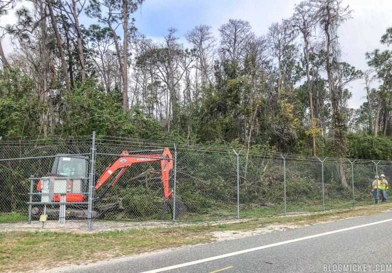 TRON Coaster Site Clearing Started