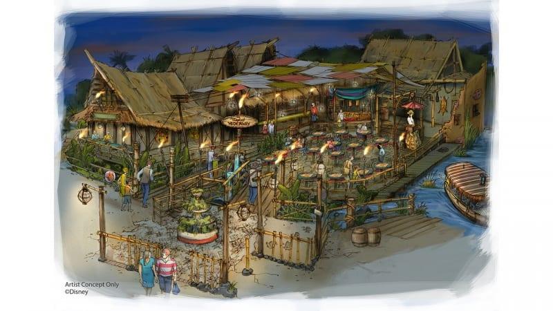 Tropical Hideaway Adventureland Disneyland concept art
