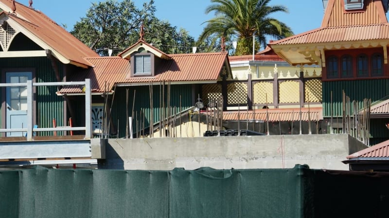 Club 33 Fireworks Viewing Area Adventureland Veranda construction