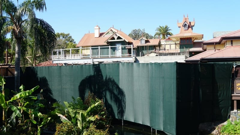 Club 33 Fireworks Viewing Area Adventureland Veranda project