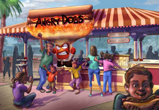 New Details Pixar Pier angry dogs