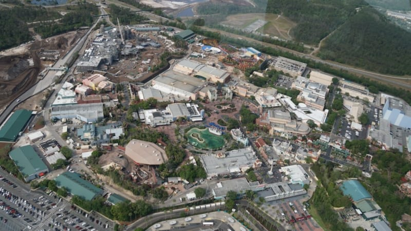 Disney's Hollywood Studios Aerial view
