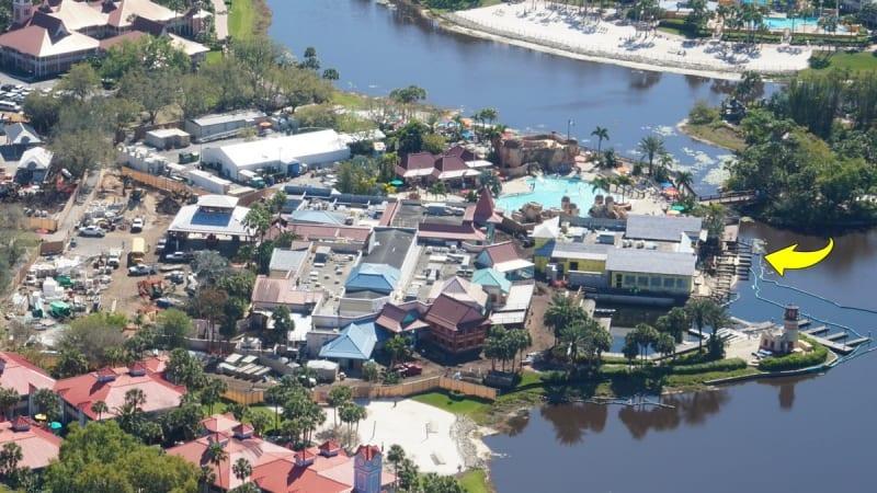 Disney Skyliner Construction Progress March 2018 Caribbean beach port Royale