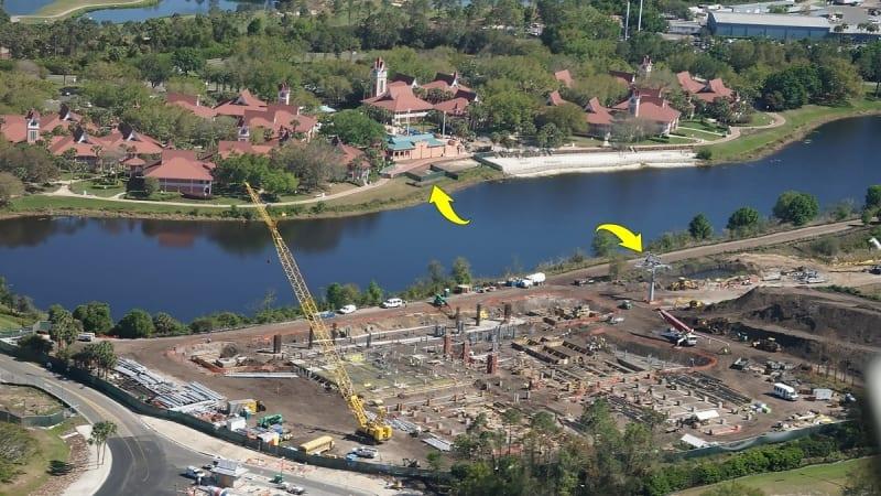 Disney Skyliner Construction Progress March 2018 Caribbean beach resort