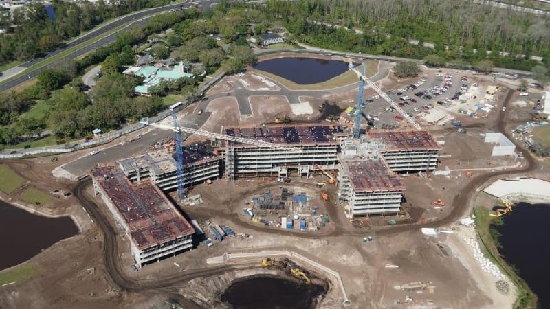 Disney Skyliner Construction Update March 2018 riviera resort