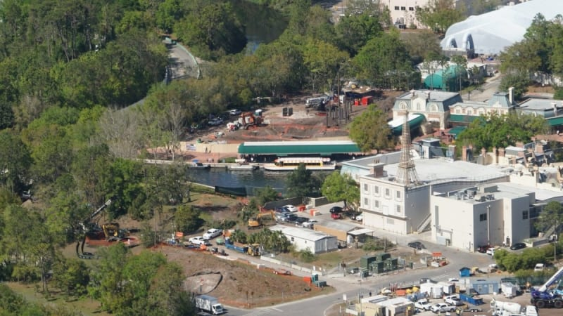 Disney Gondola Construction epcot station
