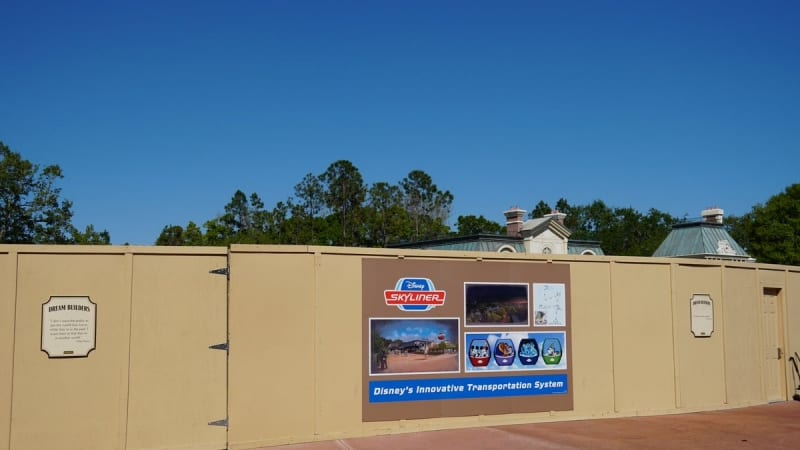 Supports Rise Disney Skyliner Station Epcot
