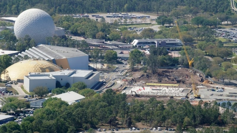Guardians of the Galaxy Coaster Update March 2018 sky view