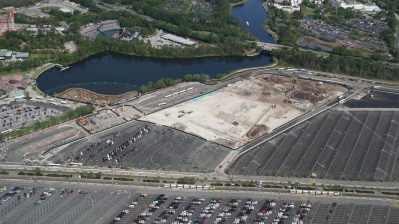 Hollywood Studios Parking Lot Expansion March aerial