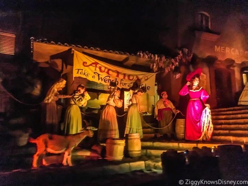 pirates of the Caribbean Disneyland closing Redhead Auction Scene