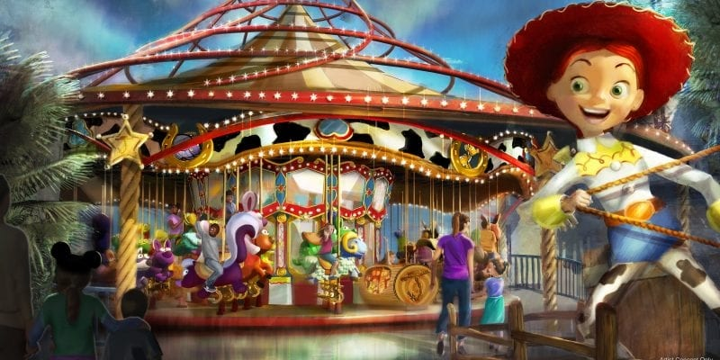 New Details Pixar Pier jessie's critter carousel