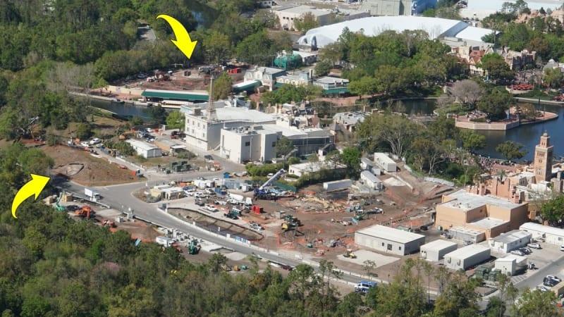 Ratatouille Construction Update Epcot March 2018 concrete foundation
