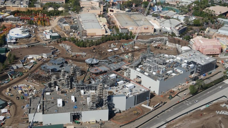 Galaxy's Edge construction update March 2018 view