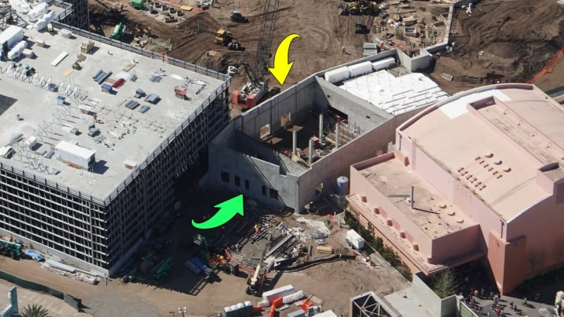 Galaxy's Edge construction update March 2018 wall