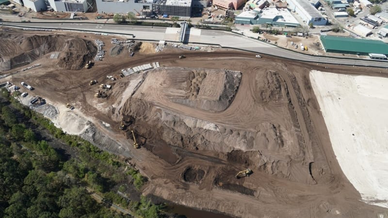 Star Wars Galaxy's Edge Construction dirt mounds