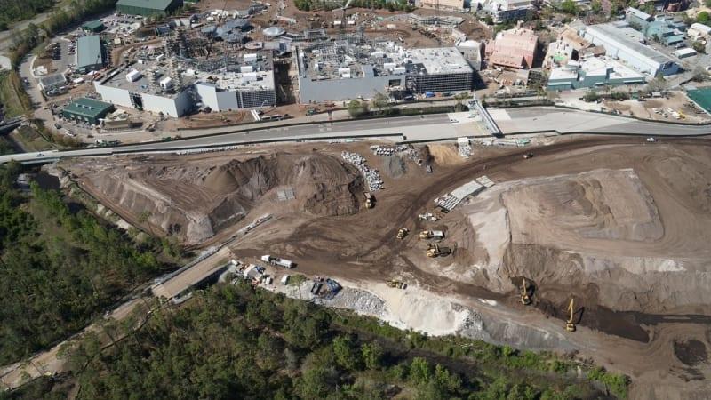 Star Wars Galaxy's Edge Construction dirt hills
