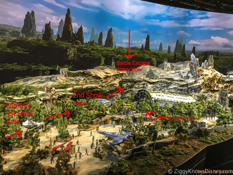 Star Wars Galaxy's Edge Battle Escape Entrance Disneyland