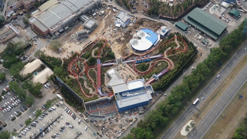 Toy Story Land Aerial overview