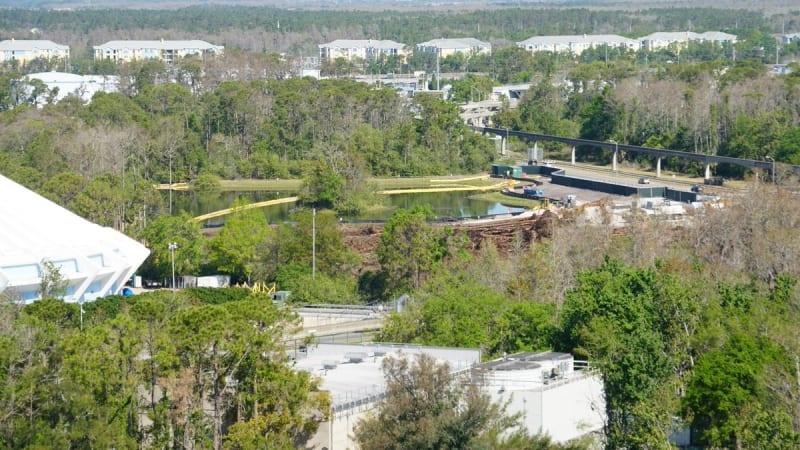 Tron Coaster Land Clearing Magic Kingdom
