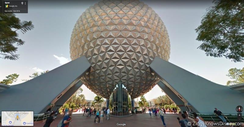 Google Maps Walt Disney World spaceship earth