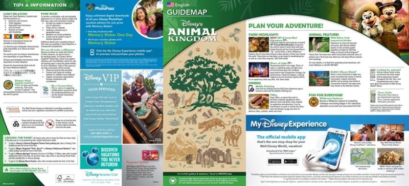 Disney's Animal Kingdom 20th Anniversary Guide and Program Times