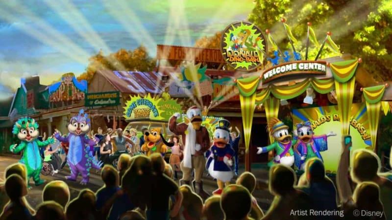 Donald's Dino-Bash Permanent Dinoland U.S.A. concept art