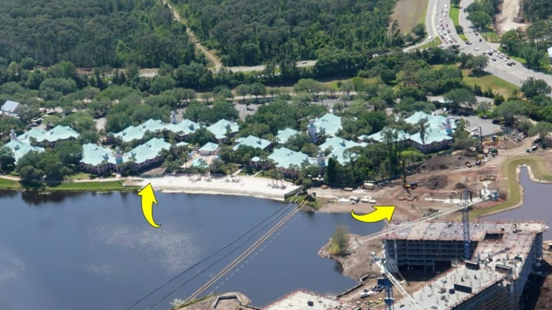Disney Skyliner Construction Update April 2018 Caribbean beach and riviera