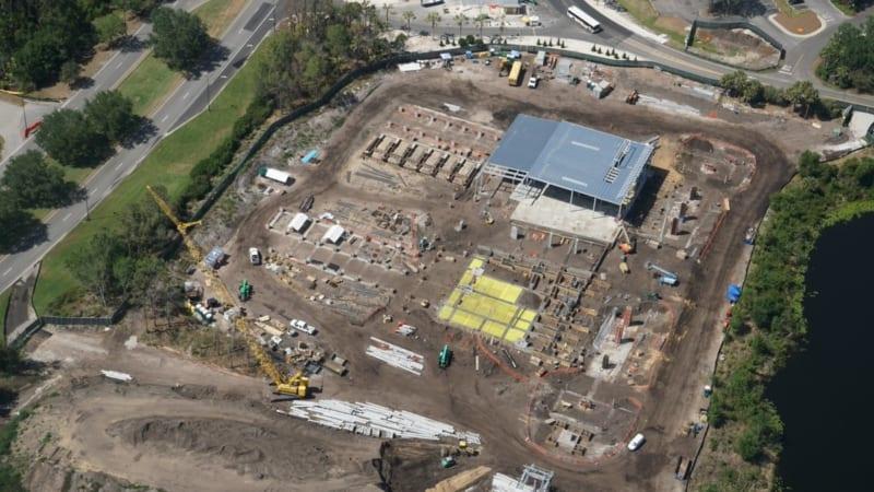 Disney Skyliner Construction Update April 2018 Caribbean beach station