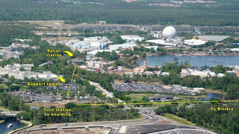 Disney Skyliner Construction Update April 2018 epcot