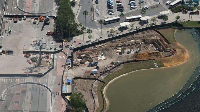 Disney Skyliner Construction Update April 2018 Hollywood studios aerial shot