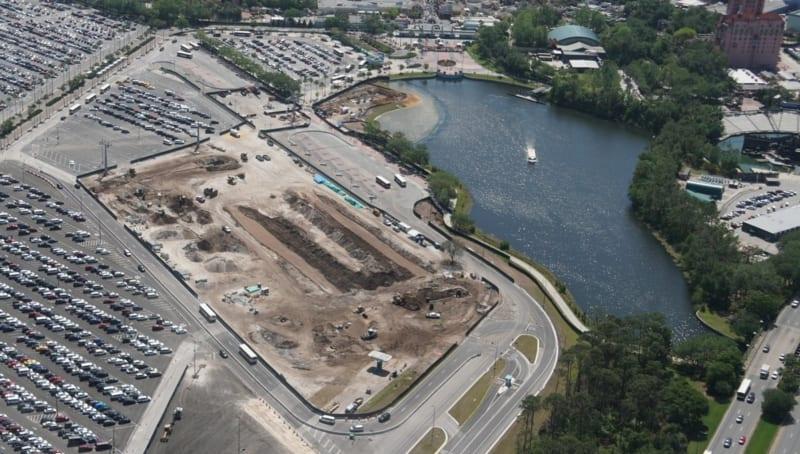 Disney Skyliner Construction Update April 2018 Hollywood studios bus loop