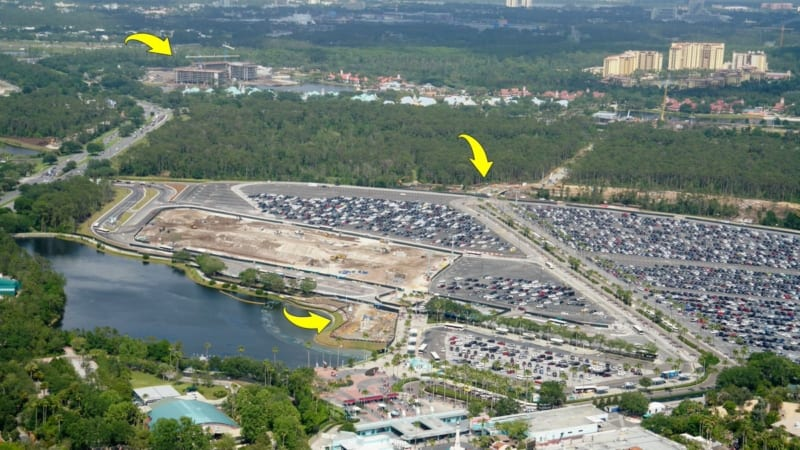 Disney Skyliner DHS Parking lot route