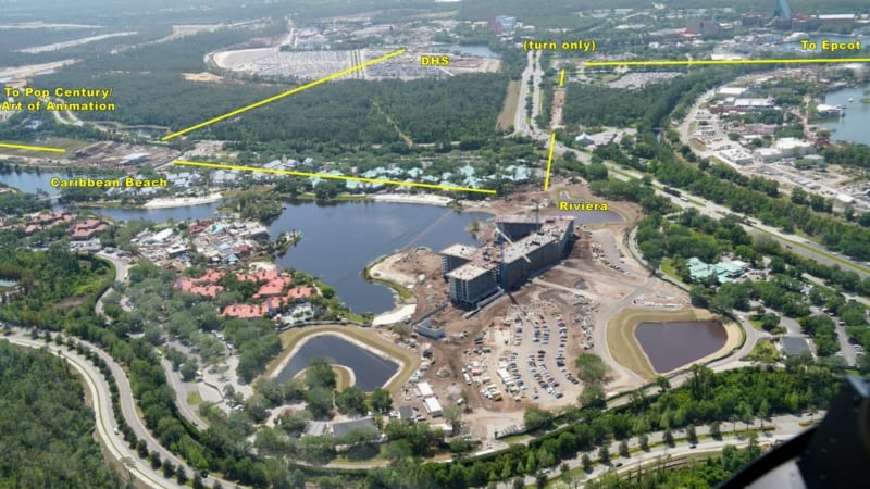 Disney Skyliner Construction Update April 2018 aerial view