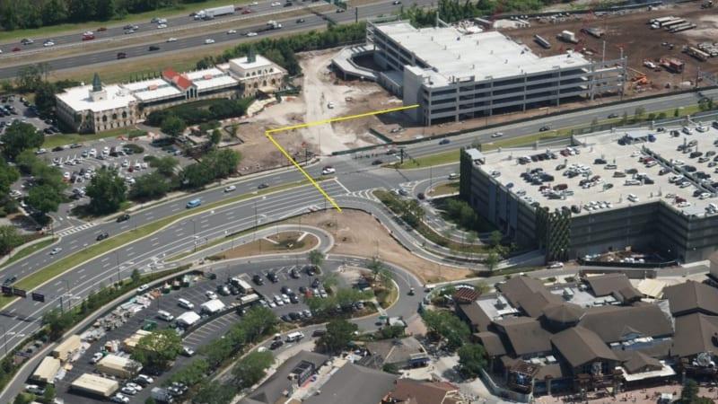 Disney Springs Construction Update April 2018 parking garage