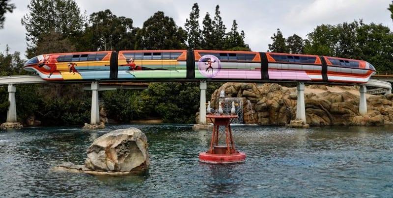 Incredibles Monorail Disneyland