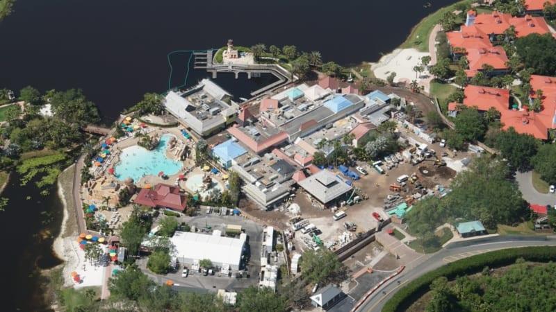 Disney Skyliner Construction Update April 2018 Caribbean beach port Royale