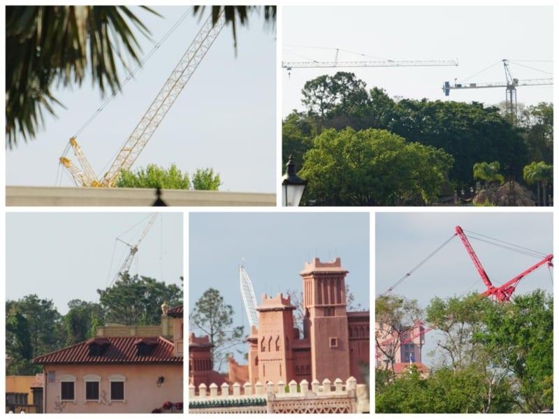 Ratatouille Construction Update Epcot April 2018 epcot cranes