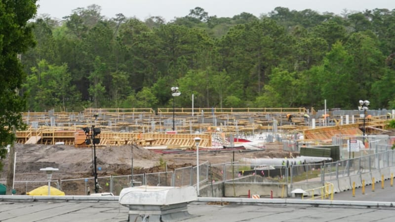Guardians of the Galaxy Coaster Foundation Installation in Epcot