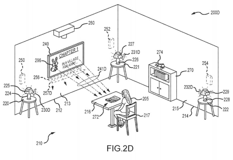 Disney Patent Multimedia Hotel Rooms