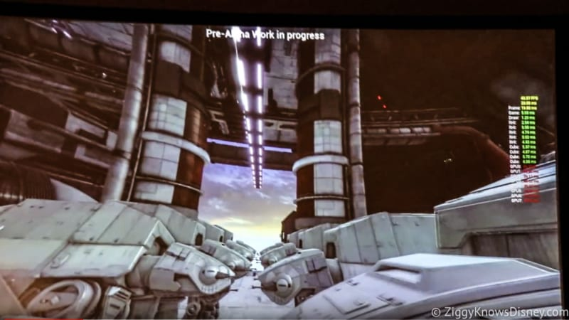 video Millennium Falcon Attraction Test Footage