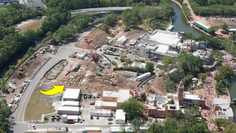 Ratatouille Construction Update Epcot April 2018 aerial