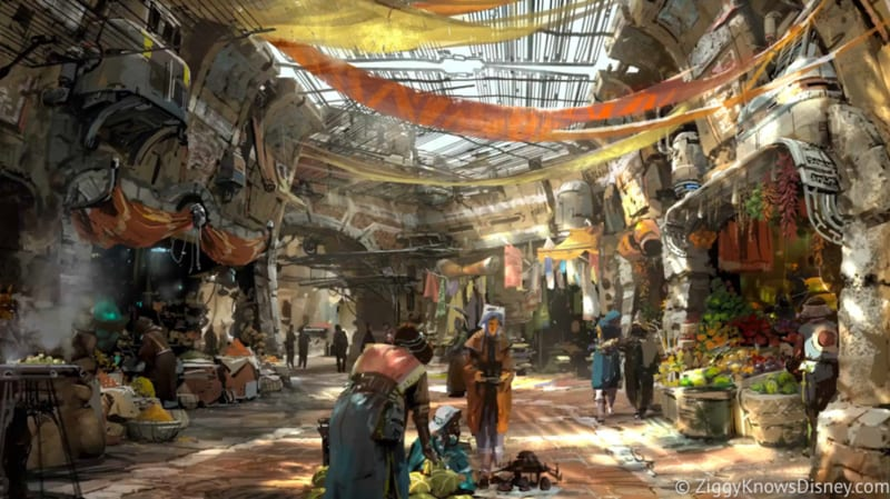 Star Wars Galaxy's Edge Restaurants Layout marketplace
