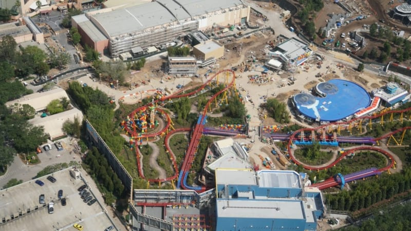 Toy Story Land Aerial Shot