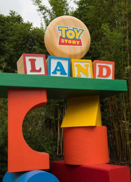 Toy Story Land Entrance Sign