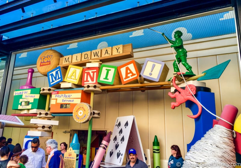Toy Story Land FastPass+ midway mania entrance