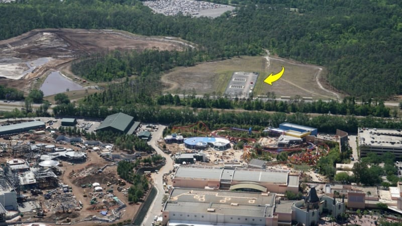 Toy Story Land Construction Update April fireworks launch