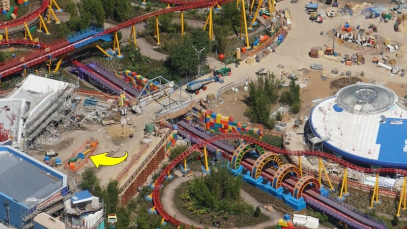 Toy Story Land Construction Update April slinky dog dash